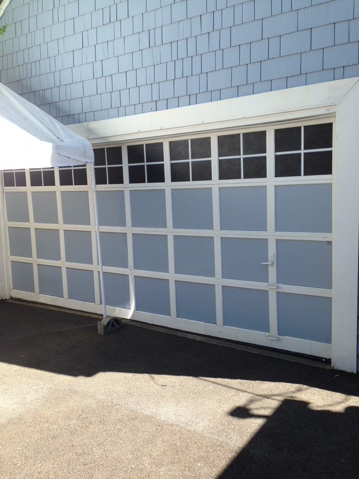 Garage door faux windows-finished